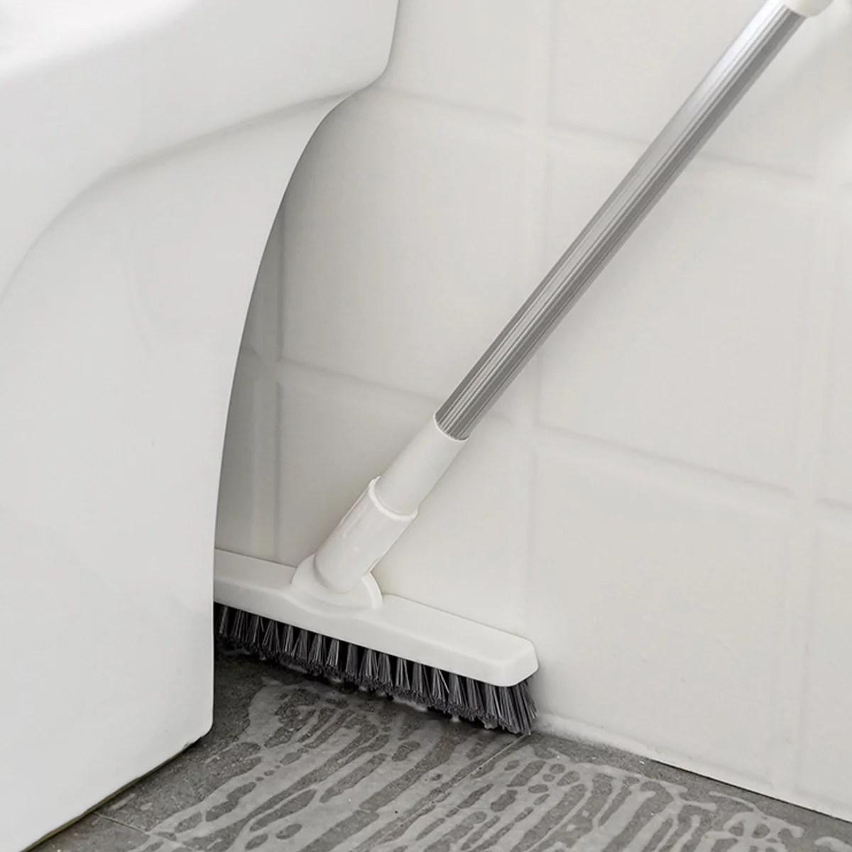 floor scrub brush telescopic tile scrubber corner crevice cleaning brush extendable floor brush kitchen bathroom cleaning tool 31 51 adjustable