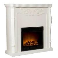 Tarpley Carved Electric Fireplace, Ivory - Walmart.com