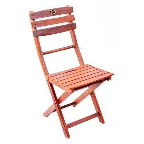 Folding Wooden Bistro Chairs, Set of 2, Multiple Colors