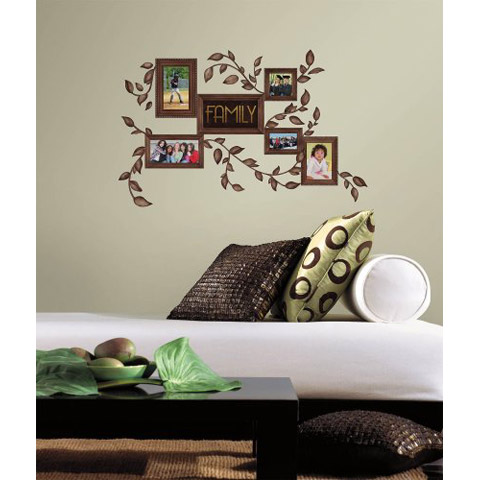 roommates peel and stick decor wall decals family frames pieces