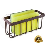 Home Intuition Bronze Kitchen Sink Caddy And Sponge Holder And Strong Suction Attachment Walmart Com Walmart Com