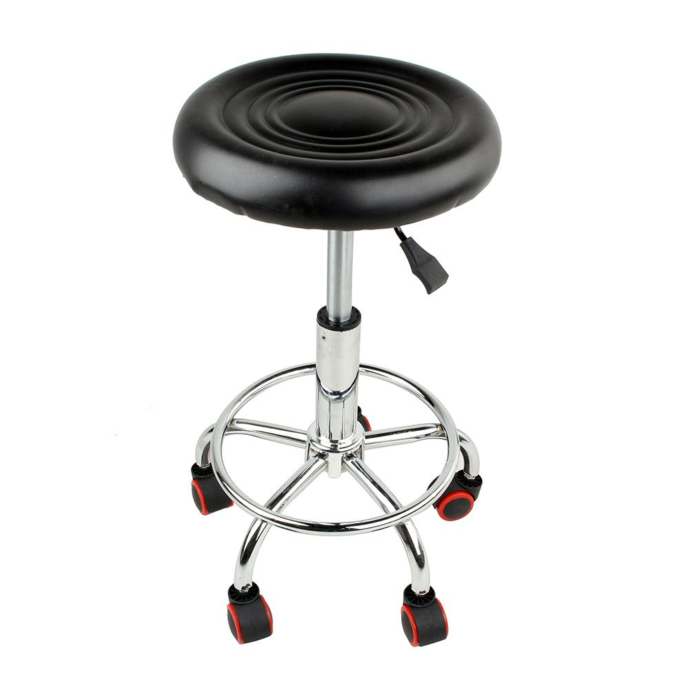 stool chair on wheels wicker barrel cushions vgeby rolling swivel for salon spa office tattoo facial kitchen massage medical adjustable hydraulic with black walmart com