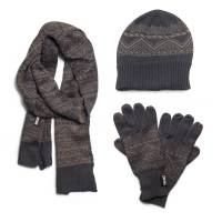 MUK LUKS Men's Hat, Scarf, and Texting Glove Set - Walmart.com