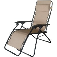 Bungee Folding Chaise Lounge, Tan - Walmart.com