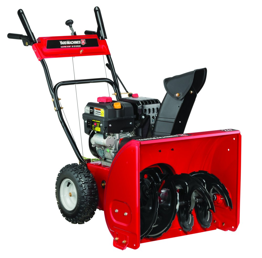 medium resolution of yard machines 24 two stage snow blower with electric start walmart com