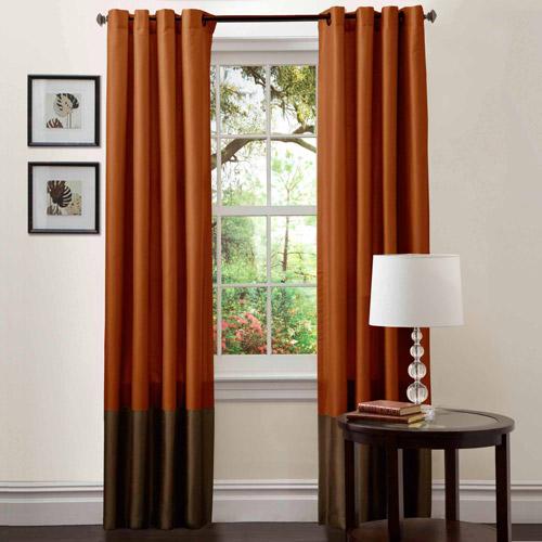 "Prima Brown Rust Window Curtains Pair 54"" X 84"" Walmart Com"