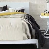 Bedwear Live Comfy Colorblock Comforter Set Black Twin ...