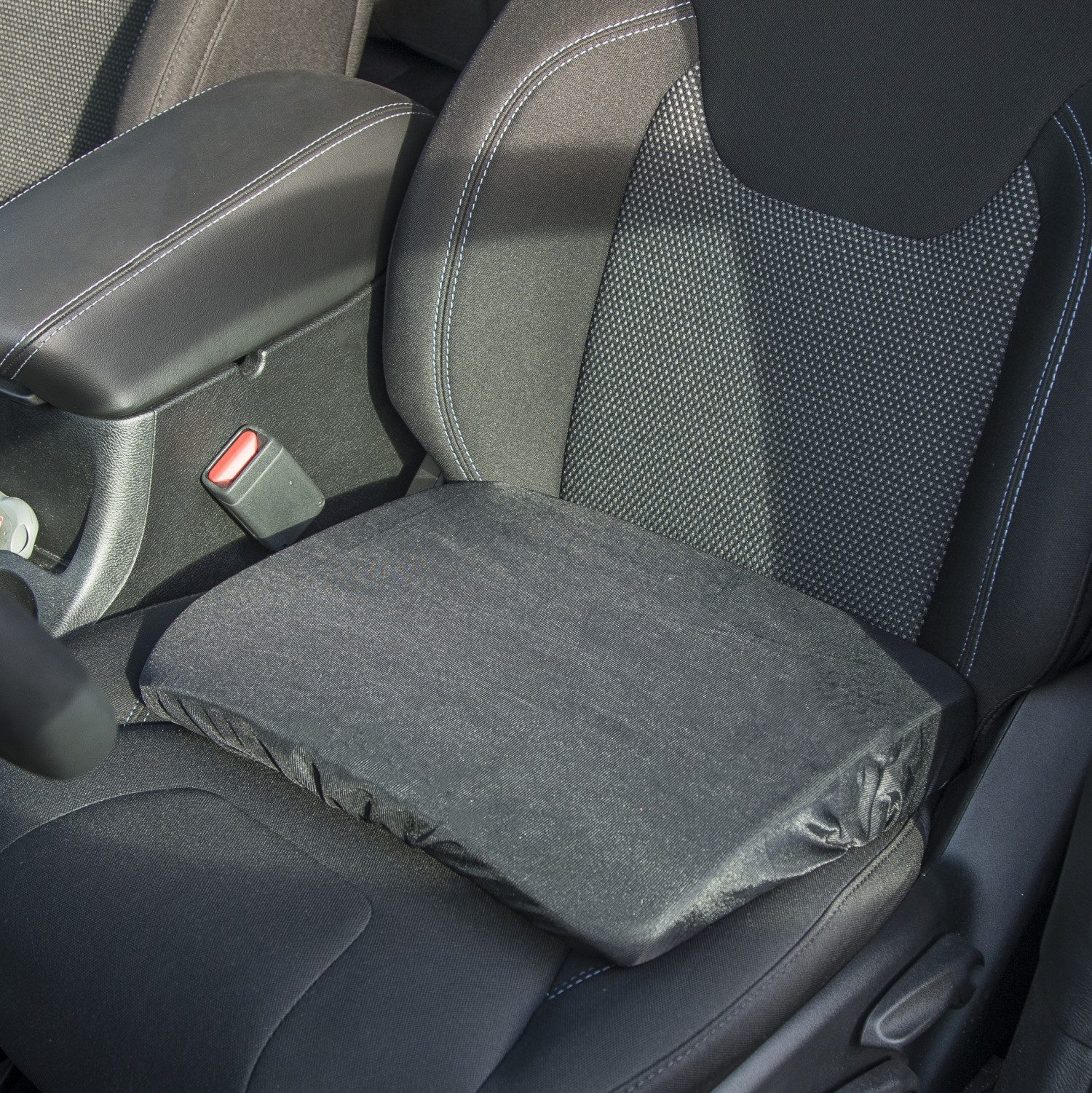 automotive seat riser cushion helps sight line while driving
