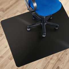Office Chair Mat Stand Up High Marshal Black Polycarbonate 36 X 48 Hard Floor