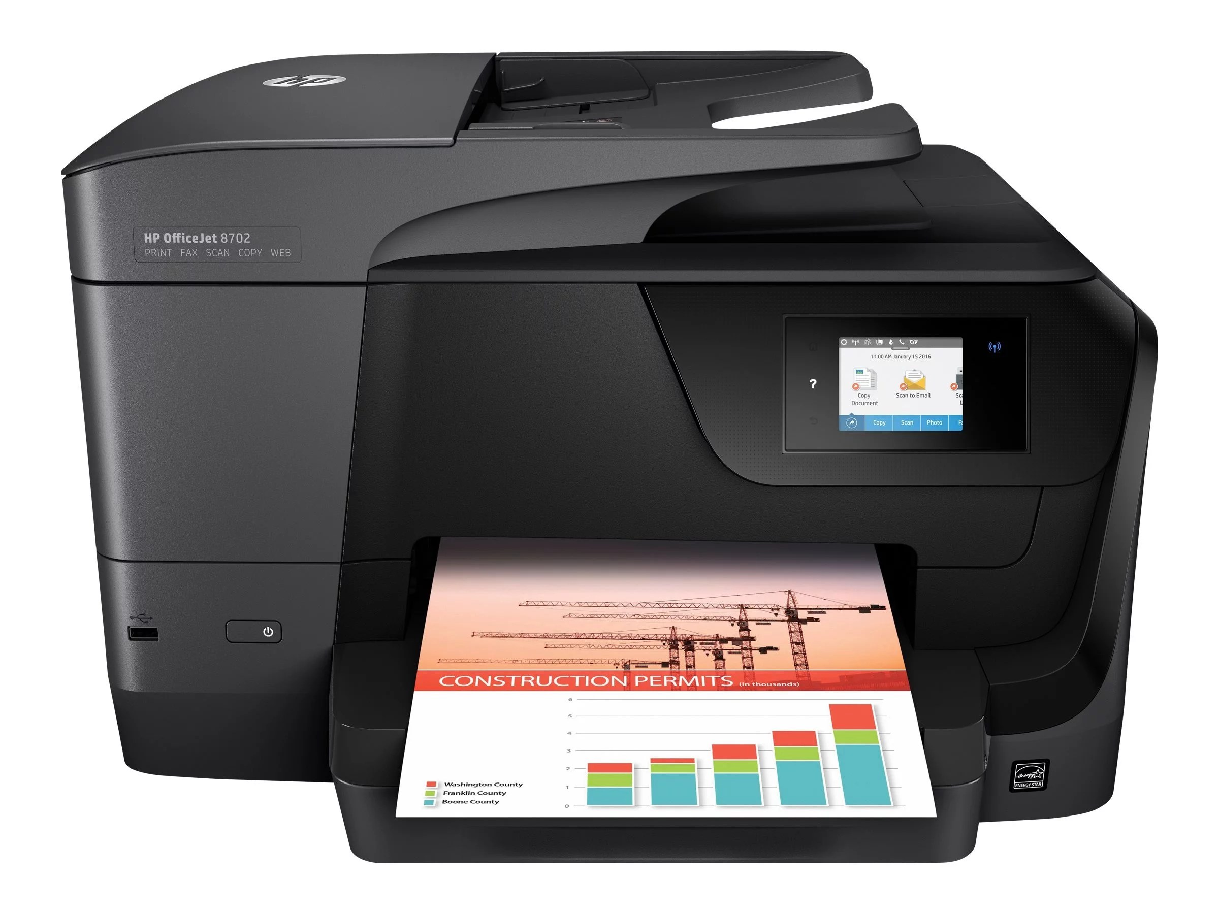 hight resolution of hp officejet 8702 wireless all in one printer m9l81a walmart comhp 8500a wireless printer