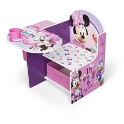 Minnie Table And Chairs Best Toddler Chair Disney Mouse Desk With Storage Bin By Delta Children Walmart Com