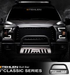 stehlen 714937181861 3 classic series bull bar matte black brush aluminum skid plate for 2005 2007 jeep grand cherokee 2006 2010 commander  [ 1600 x 1600 Pixel ]