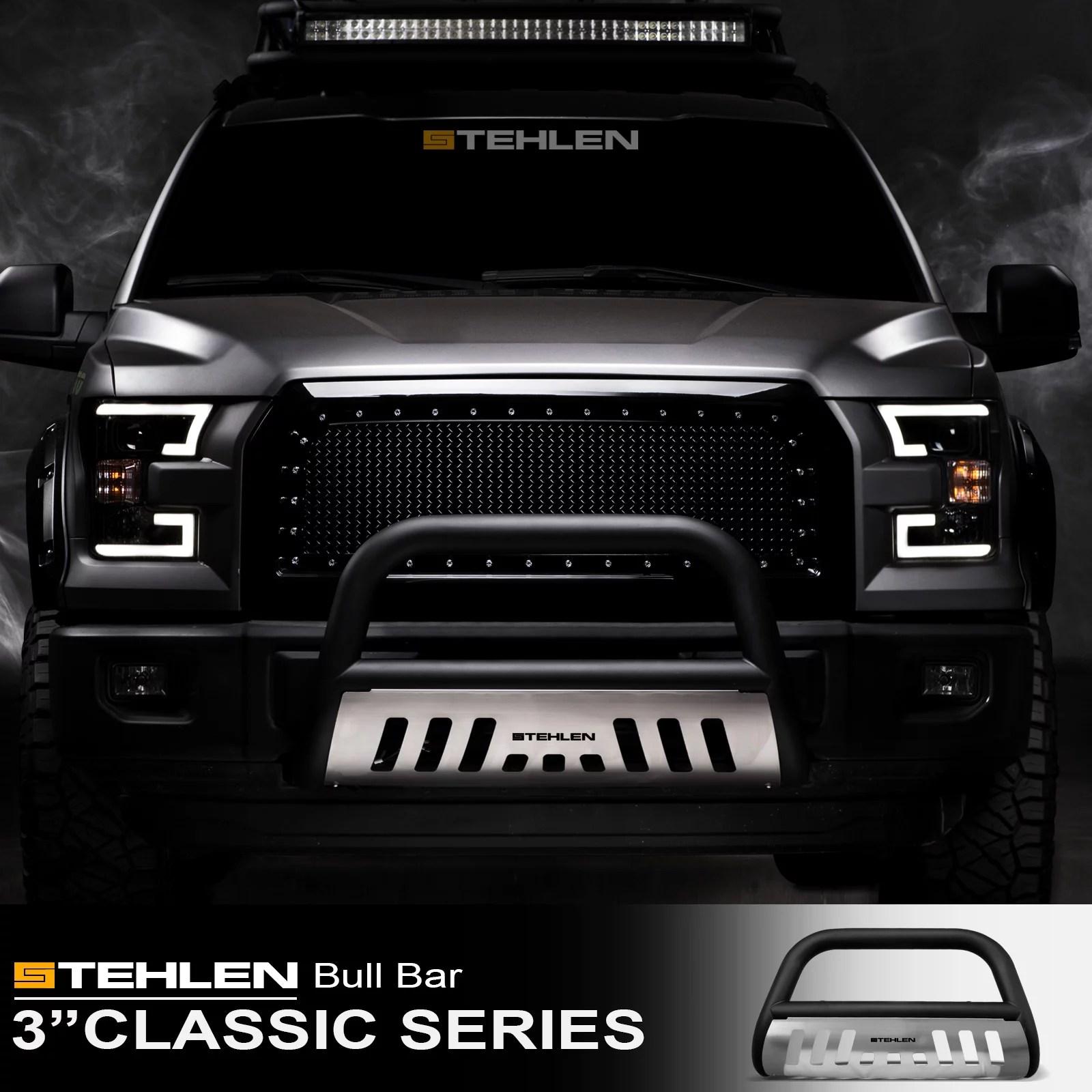 hight resolution of stehlen 714937181861 3 classic series bull bar matte black brush aluminum skid plate for 2005 2007 jeep grand cherokee 2006 2010 commander