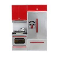 Tuscom Mini Kitchen Pretend Play Cooking Stove Cabinet ...