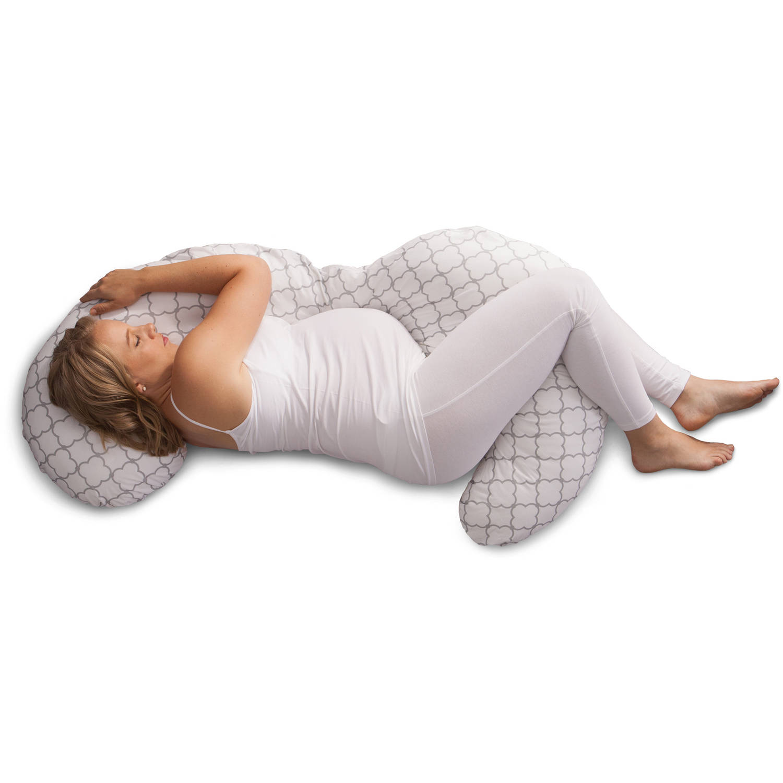 boppy slipcovered trellis white pregnancy body pillow walmart com