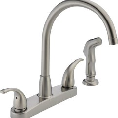 Kitchen Faucets Stainless Steel Pine Bench Peerless P299578lf Ss Choice Two Handle Faucet