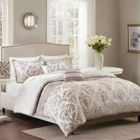 Better Homes and Gardens Ivory Damask Pleats Comforter Set