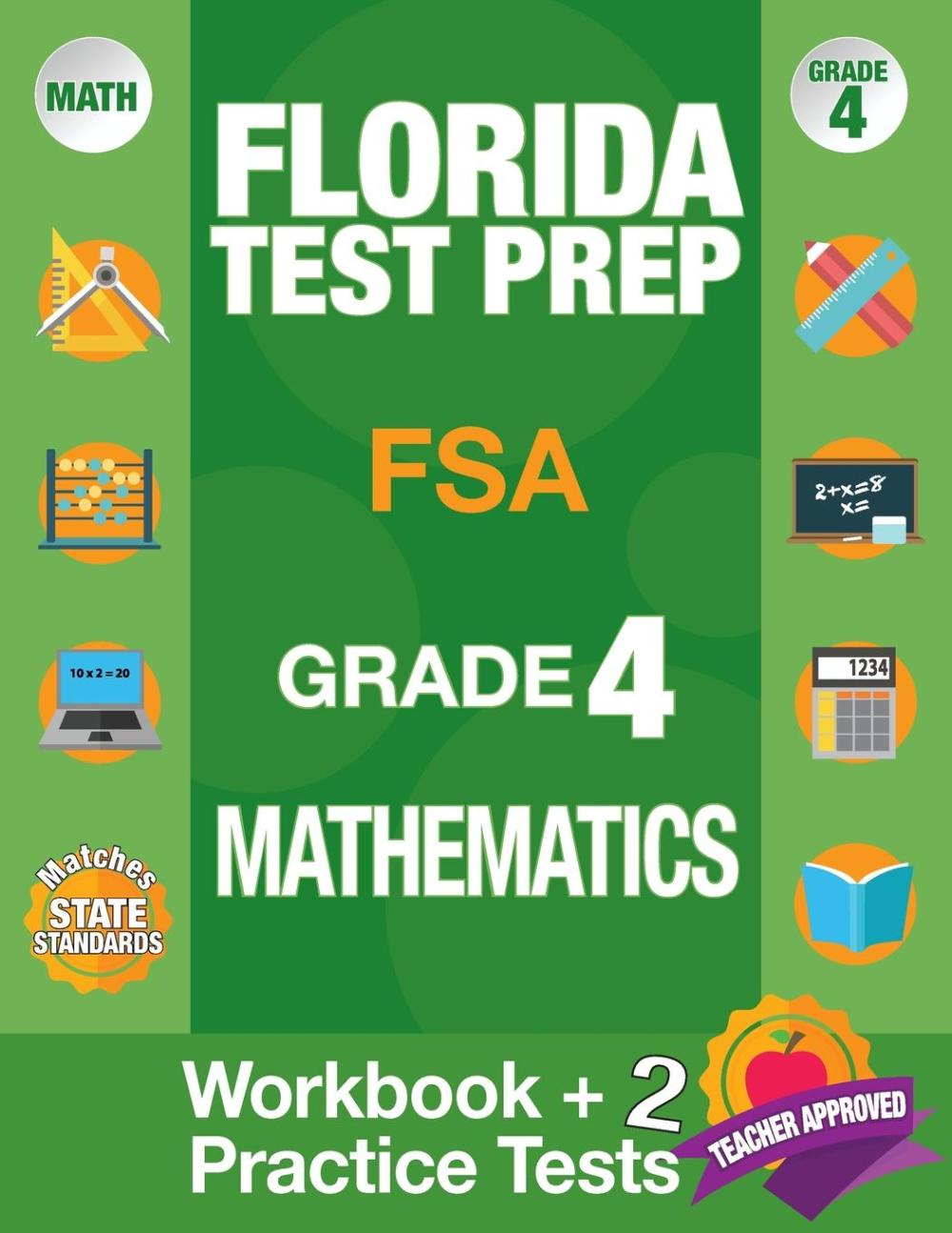 medium resolution of Florida Test Prep FSA Grade 4 Mathematics : Math Workbook and 2 FSA  Practice Tests