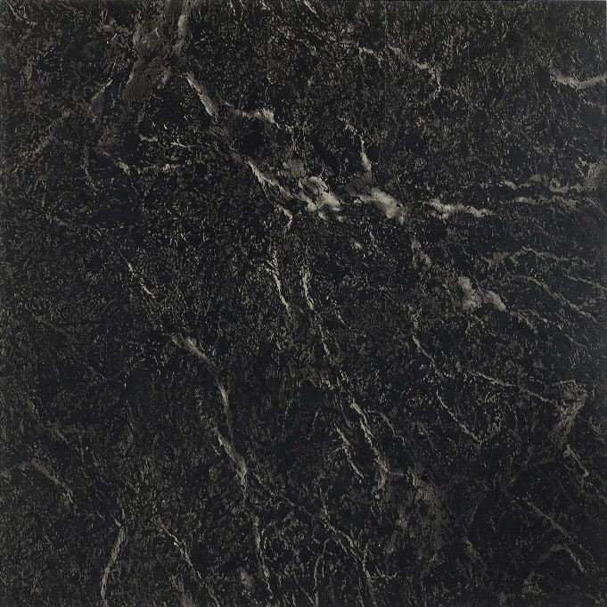 achim nexus 12 x12 1 2mm peel stick vinyl floor tiles 20 tiles 20 sq ft black with white vein marble