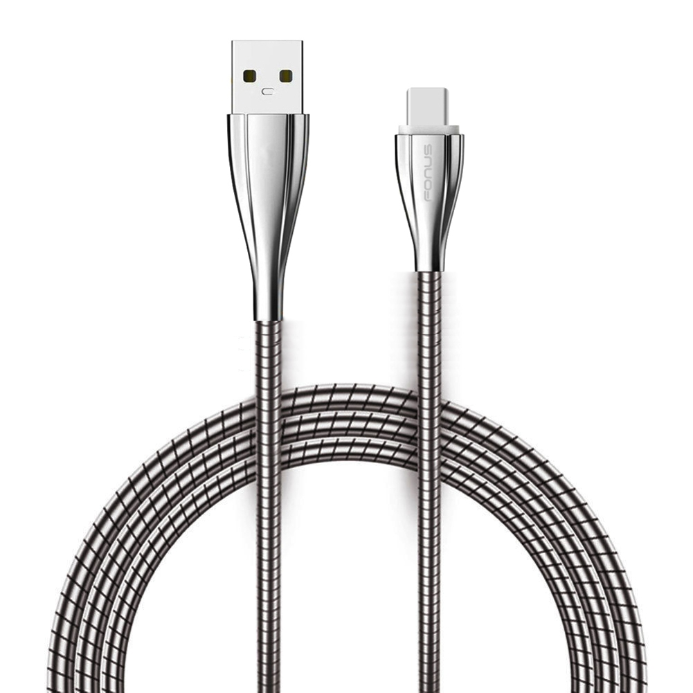 hight resolution of type c usb cable charger sync cord 6ft long metal braided wire zinc alloy connectors quick charge k3v compatible with oneplus 6t 6 5t razer phone 2