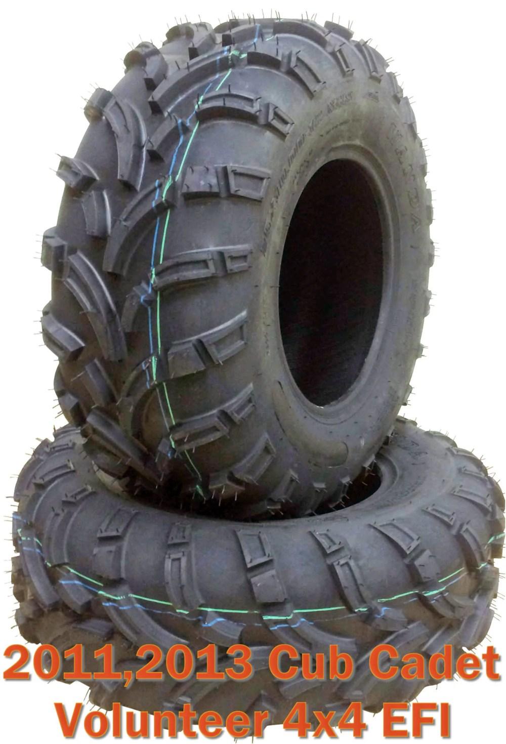 medium resolution of 11 13 cub cadet volunteer 4x4 efi atv front tire set 26x10 12 mud walmart com