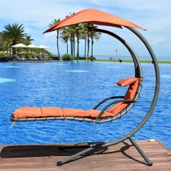 Outdoor Dream Chair Fisher Price Singing Sundale With Umbrella Hanging Chaise Lounge Arc Curved Hammock 265 Pounds Capacity Walmart Com