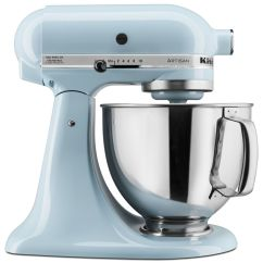 Kitchen Aid 5 Qt Mixer Raised Panel Cabinets Kitchenaid Ksm150psgb Artisan Series Quart Glacier Blue Walmart Com