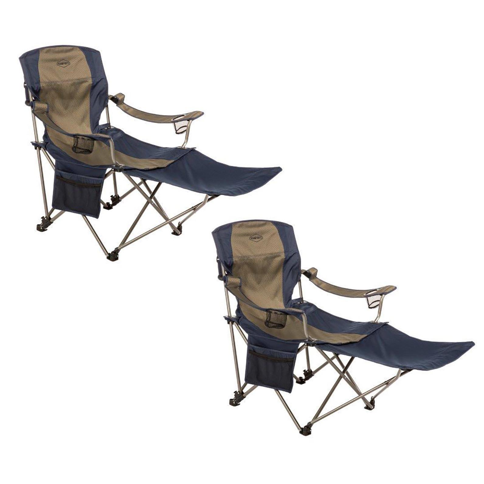 folding chair with footrest graco contempo high kamp rite outdoor tailgating camping detachable 2 pack walmart com