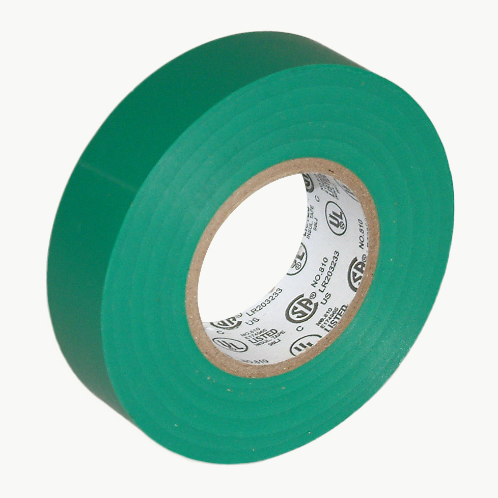 JVCC E-Tape Colored Electrical Tape: 3/4 in. x 66 ft. (Green) - Walmart.com