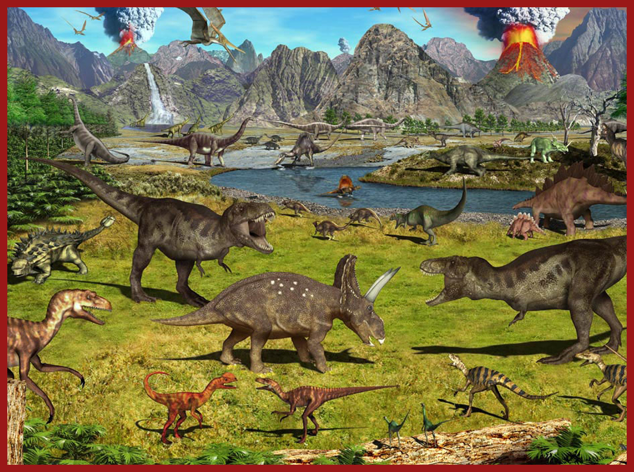 Walking With Dinosaurs Edible Cake Topper Decoration Image