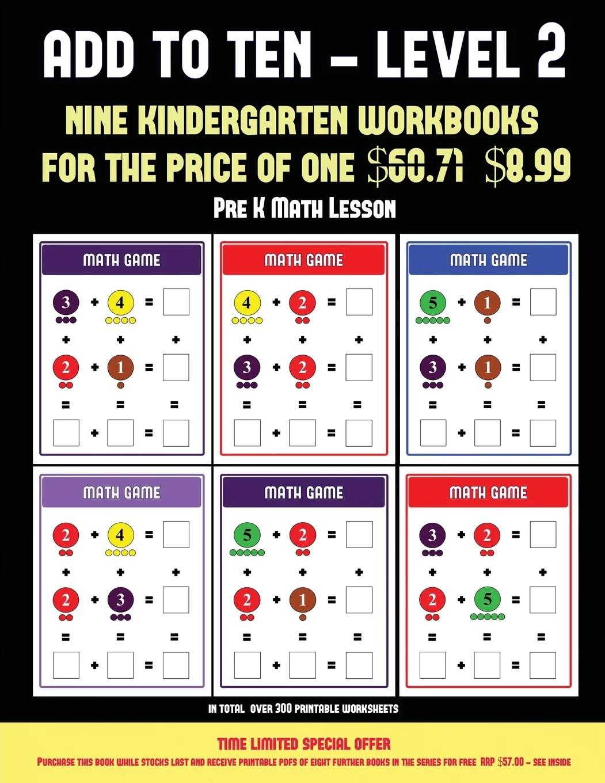Pre K Math Lesson Pre K Math Lesson Add To Ten