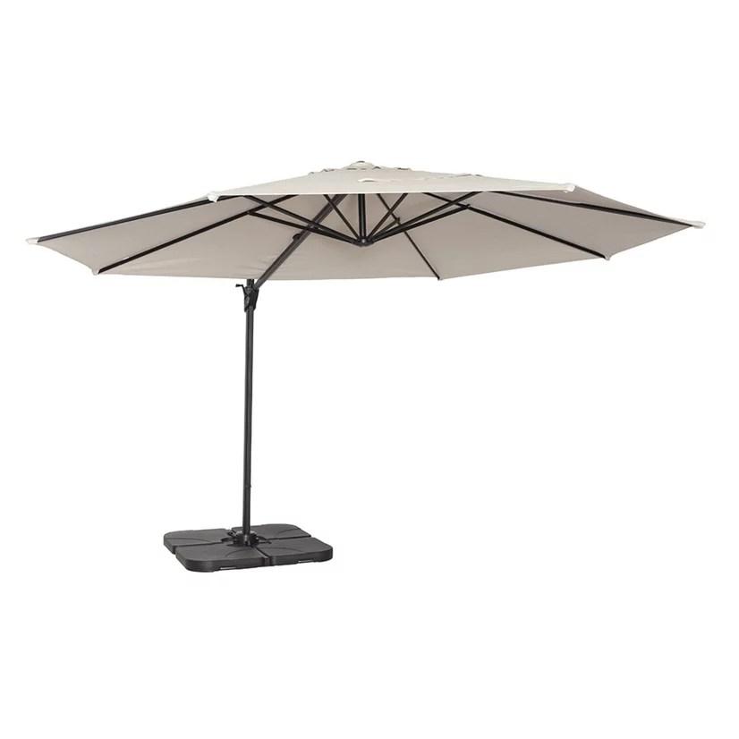 coolaroo round cantilever patio umbrella 90 uv 12 smoke walmart com