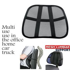 Office Chair Support Tufted Back Dining Cool Vent Cushion Mesh Lumbar New Car Truck Seat Black Walmart Com