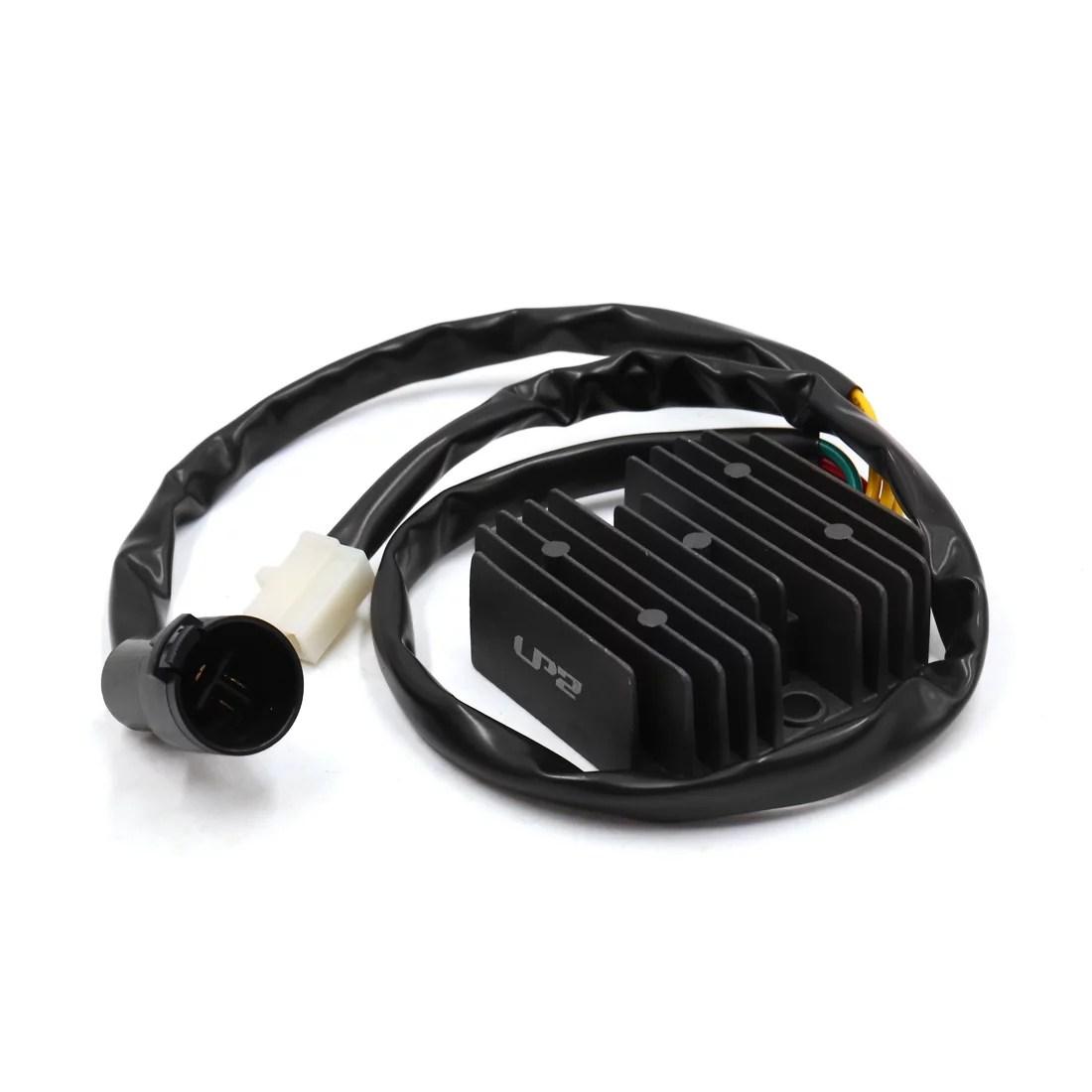 hight resolution of dc 12v black metal motorcycle voltage regulator rectifier for honda atv trx300