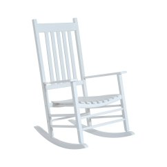 White Wood Rocking Chair Ethan Allen Palm Grove Outsunny Porch Outdoor Patio Wooden Rocker