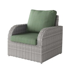 Grey Weave Garden Chairs High End Computer Chair Blended Weather Resistant Patio Walmart