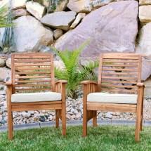 acacia wood patio chairs with cushions