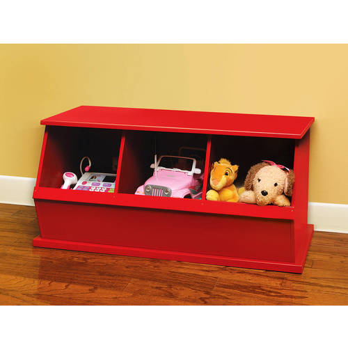 Badger Basket - Stackable Three-Bin Storage Cubby, Multiple Colors