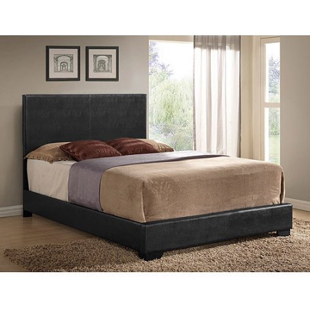 Ireland Full Faux Leather Bed Black