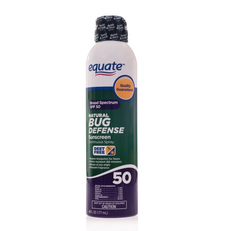 Equate Natural Bug Defense Sunscreen, SPF 50