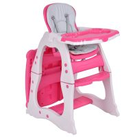 Costway 3 in 1 Baby High Chair Convertible Play Table Seat ...