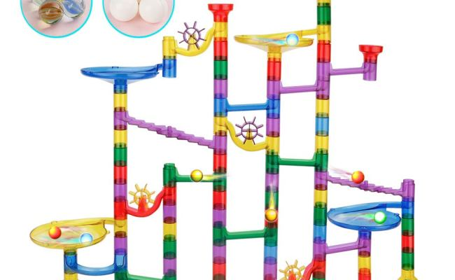 152 Pcs Marble Run Set Toys For 3 4 5 6 7 8 Year Old Boys
