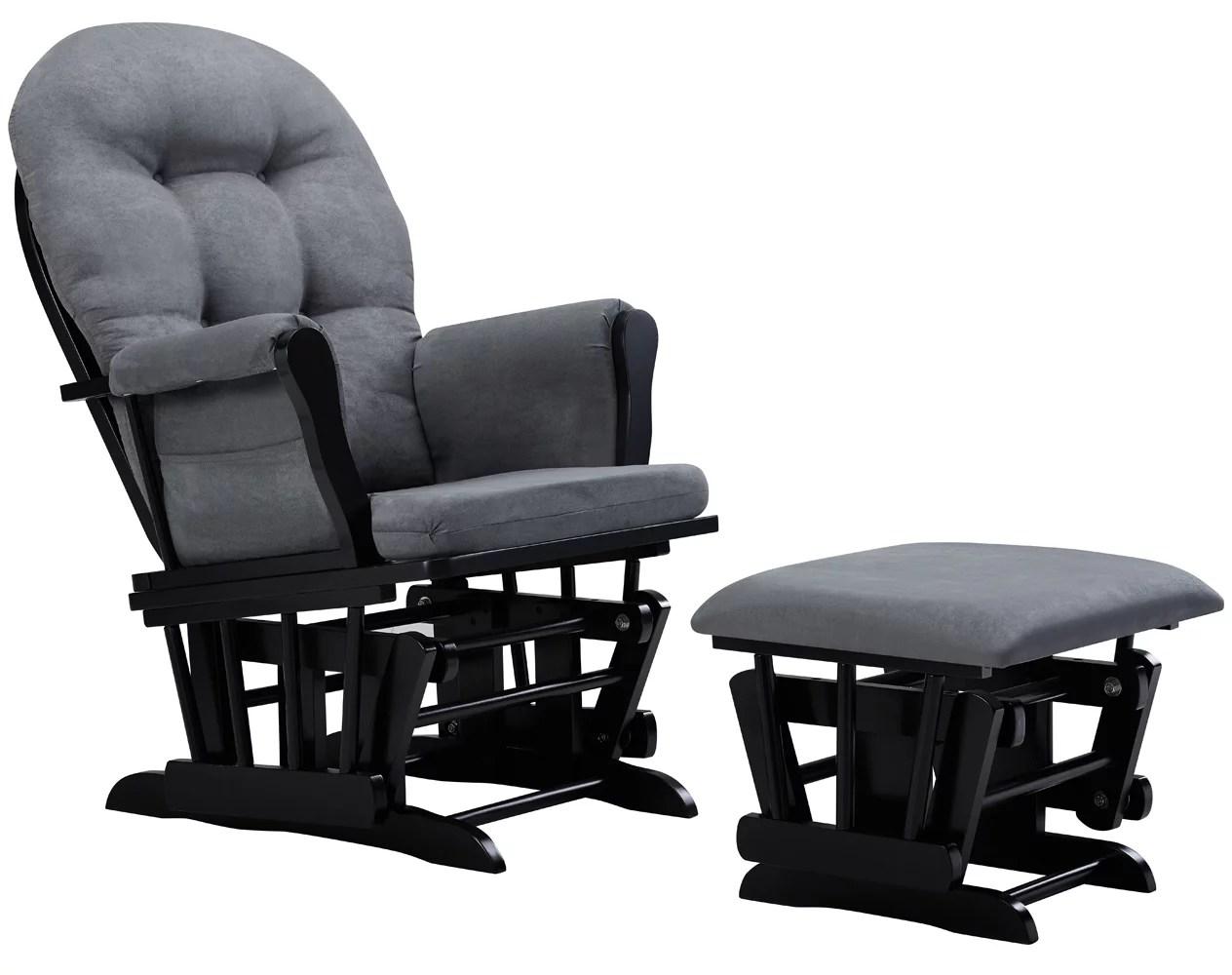 Glider Chair And Ottoman Nursery Rocking Furniture Baby Nursing Rocker Seat Gray  eBay