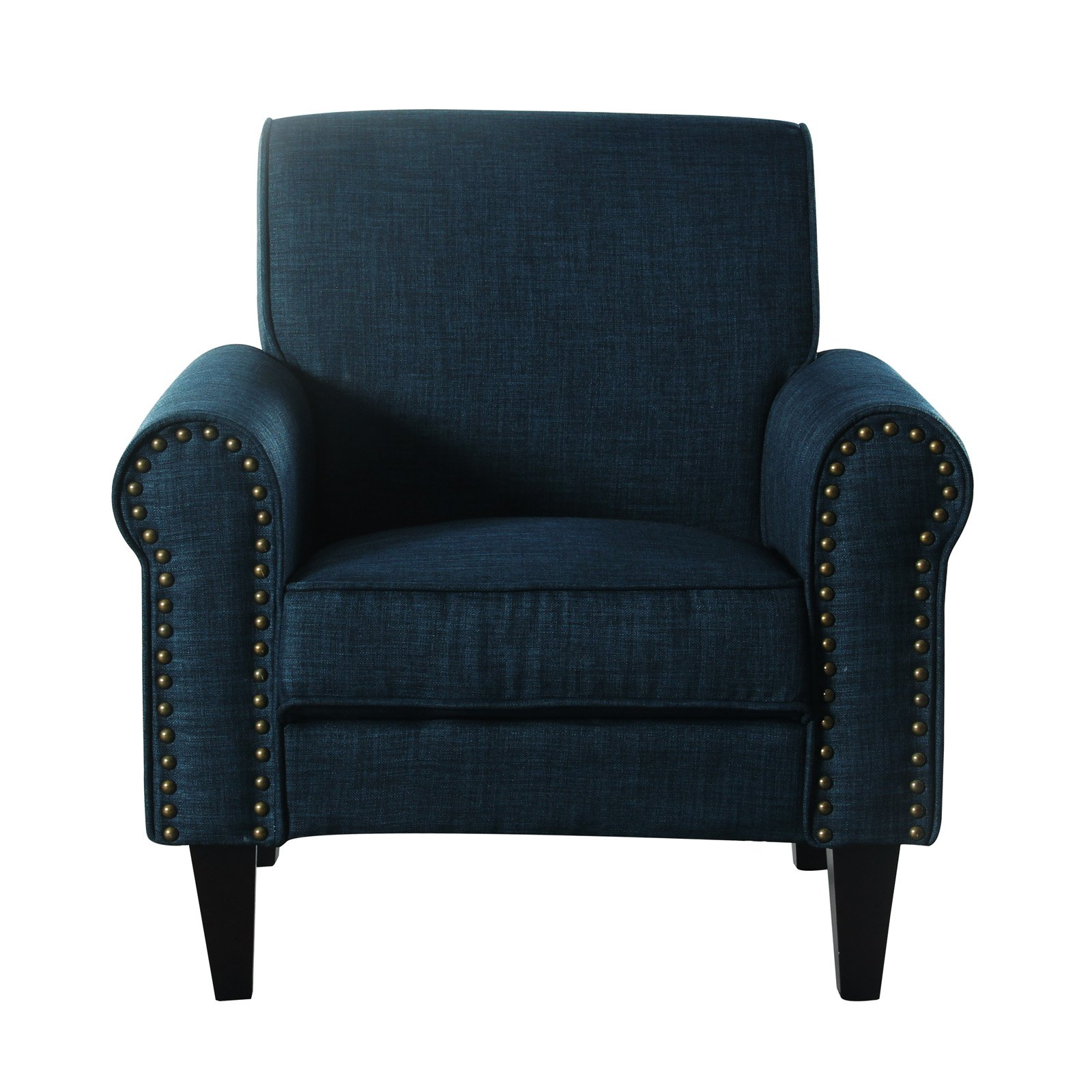 upholstered chair with nailhead trim high back covers for sale incadozo accent walmart com