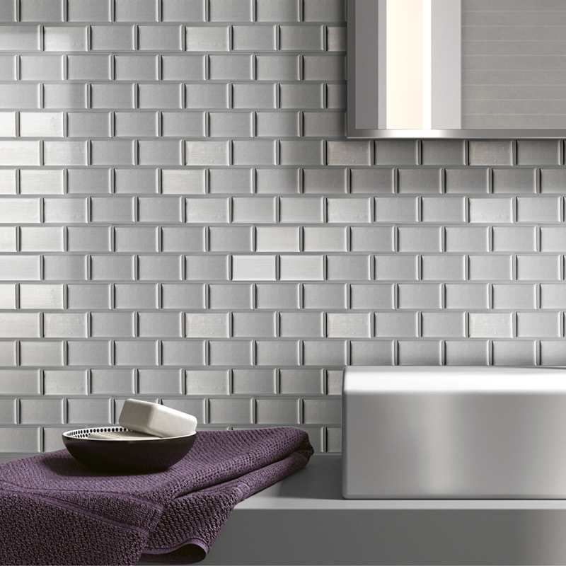 art3d a17004 peel n stick kitchen backsplash wall tiles silver subway set of 6 walmart com