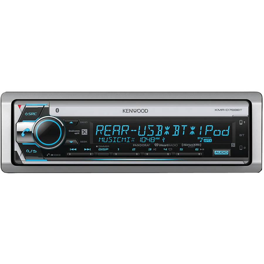 medium resolution of kenwood kmr d768bt single din in dash marine cd receiver with diagram in addition sirius satellite radio home receiver on walmart