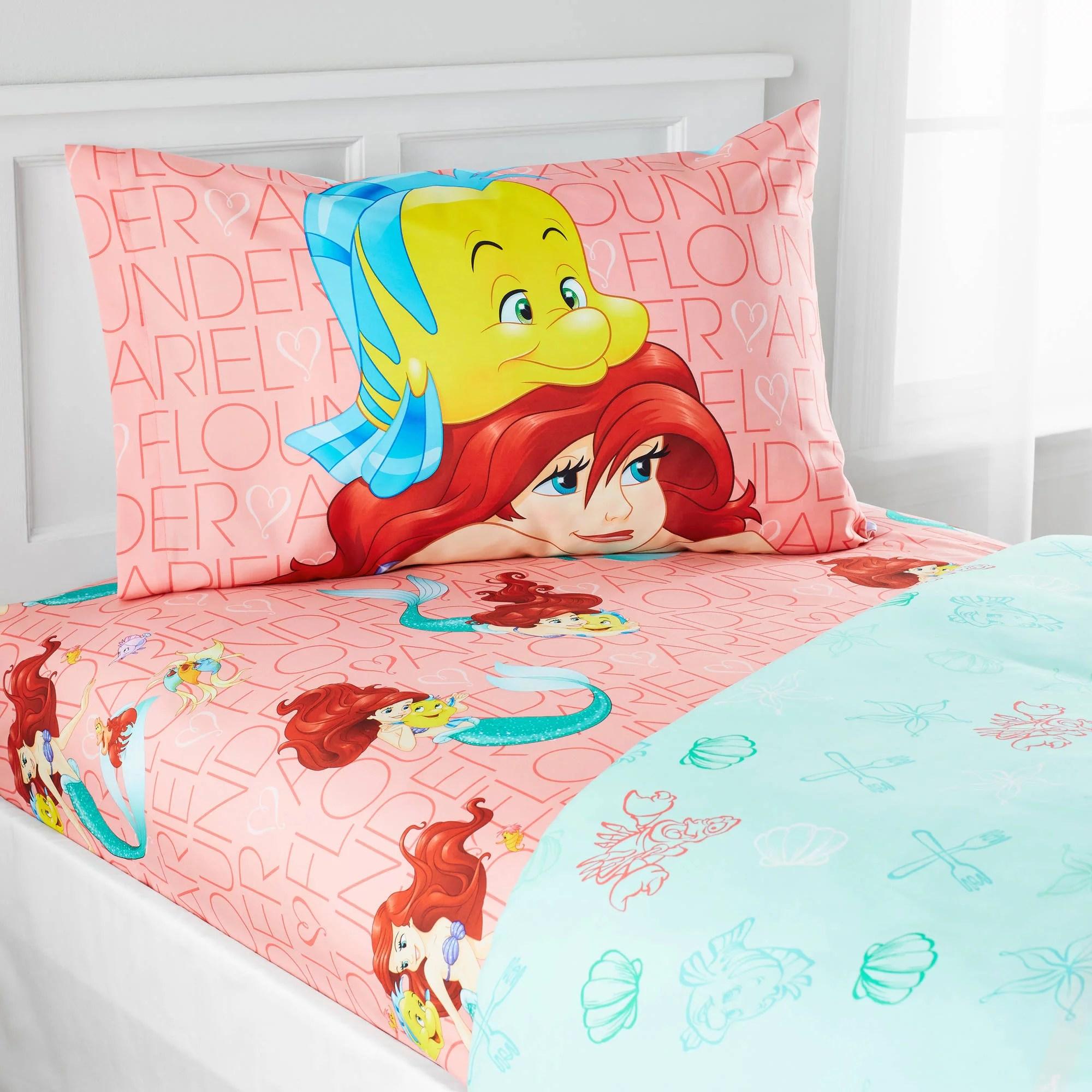 Little Mermaid Bedding Sheet Set For Girls Bed Room Decor