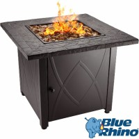 Blue Rhino Outdoor Propane Gas Fire Pit (Copper Fireglass ...