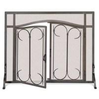 Pilgrim Hearth Gate Single Panel Iron Fireplace Screen