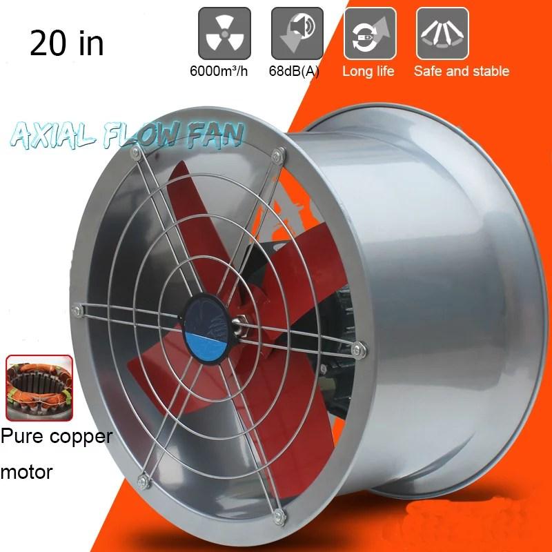 intsupermai 20 explosion proof exhaust fan tube axial duct fan cylinder pipe fan wall mounted ventilator draft fan inatke fan for dedusting and